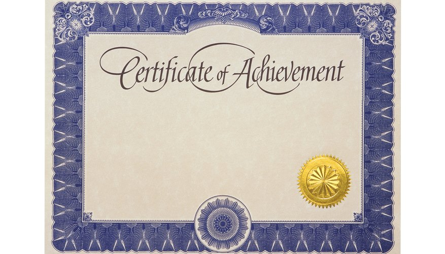 Can You Get a Job With a Certificate of Achievement? Bizfluent