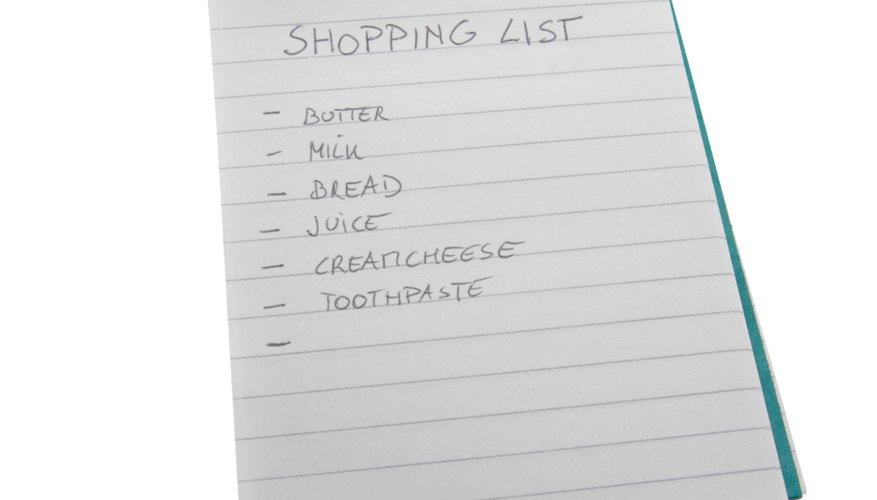 How to Make a Grocery List Categorized by Sections in a Grocery - example grocery list