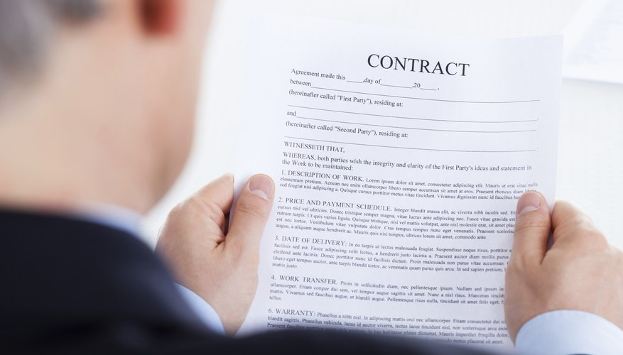 How to Write a Buyout Letter Bizfluent - how to write up a contract for payment