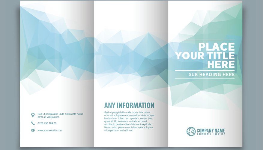 How to Fold a Paper Brochure Bizfluent