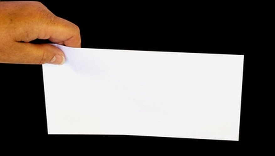 How to Print an Address on a Business Envelope Bizfluent
