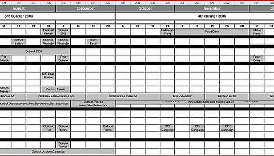 How to Create a Marketing Calendar Bizfluent - create a picture calender