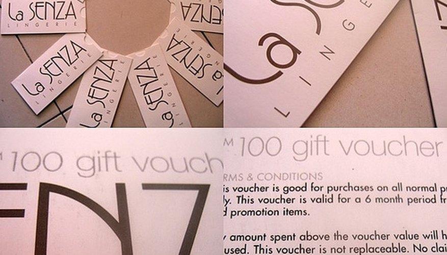 How to Make a Gift Voucher for a Beauty Salon Bizfluent