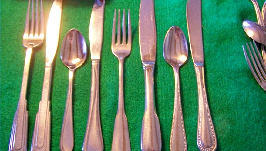 Baby Collection Silver Set Stainless Flatware Identification Our Pastimes