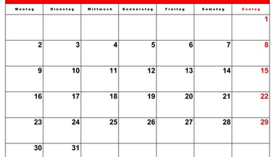 How to Make a Calendar Sheet Our Pastimes