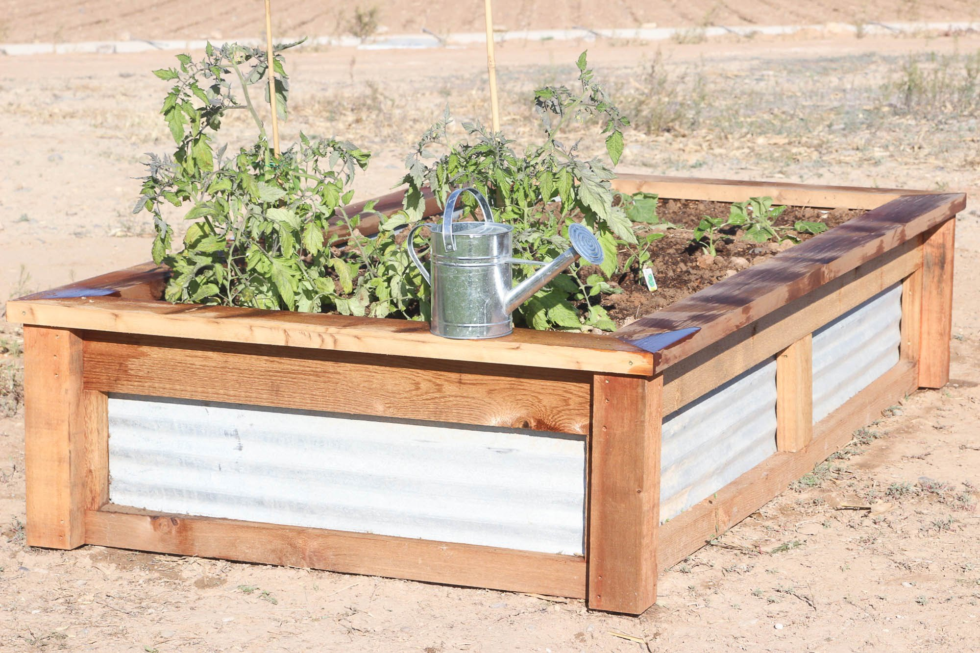 Instructions For Making Raised Garden Beds How To Build Raised Garden Beds With Corrugated Metal Ehow