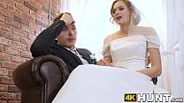 Cock craving bride makes husband cuckold