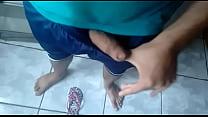 Punheta com os pés