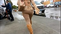 big ass brown leggings