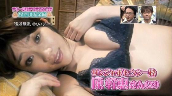 【下着キャプ画像】ブラ姿でテレビに映る下着モデルの女性ってなんかエロいよなww