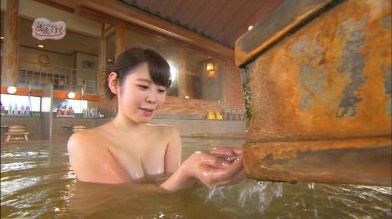 【温泉キャプ画像】この季節こんな巨乳の美人なタレントさんと一緒にお風呂入れたら最高だろうなw 20