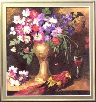 картина из сухих цветов своими руками