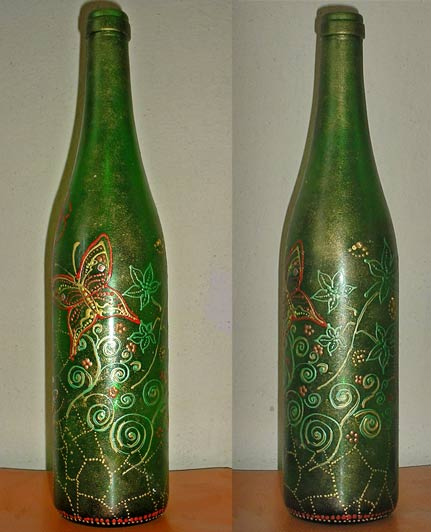 бутылка роспись акрилом