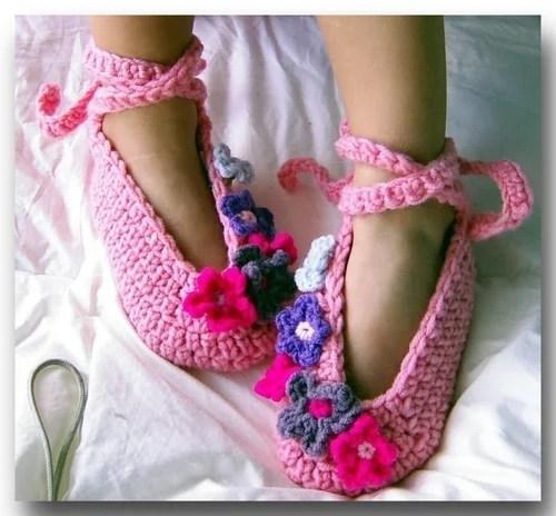 вязаная обувь хендмейд