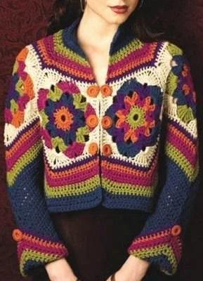 одежда в стиле хиппи жакеты пальто крючком