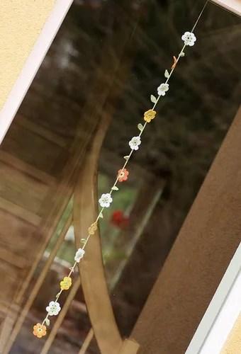 вязаный крючком декор своими руками шторы