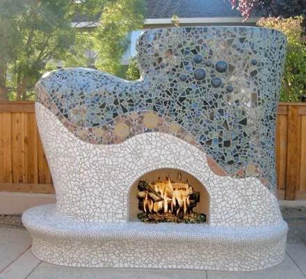 как построить наружный камин