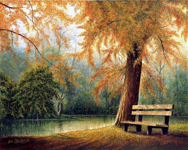 Falling Leaves In Water Live Wallpaper Осенние скамейки Обсуждение на Liveinternet Российский