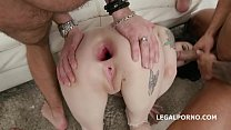 BlackEned with Anna de Ville 4 white then 4 black No Pussy / Balls Deep Anal / DAP / Gapes / Swallow GIO891