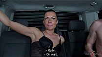 Hot russian slut ride big cock hard while drive to nowhere