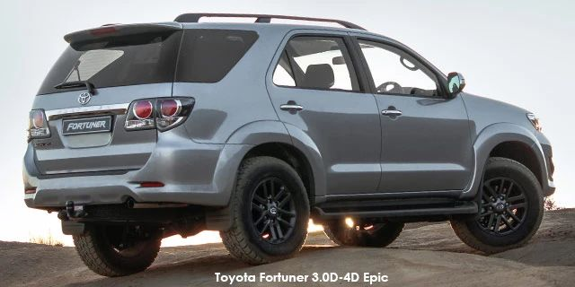 toyota fortuner 4 0 v6 4x4 epic specs in south africa