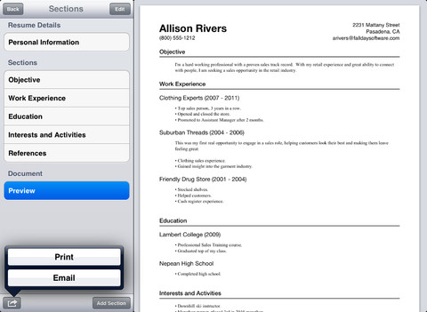 online resume builder ipad online resume builder used the resumizer free resume creator i was able
