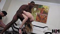 Teen in braces Anastasia Knight sucks big black cock and in fucked in hardcore teen interracial