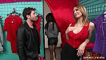 Madison Fox seduces a younger man away from his GF for hard dick