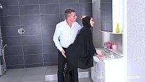 Girl in hijab gets her pussy pounded