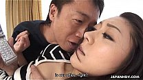 Asian wife getting fucked and she loves it
