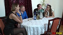 Small titted brunette german mature gets fucked in the kitchen