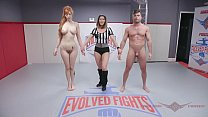 Lauren Phillips Wrestling sex with Lance Hart gets a fucking in the Ass at Evolved Fights