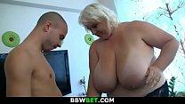 Big tits blonde doggystyled