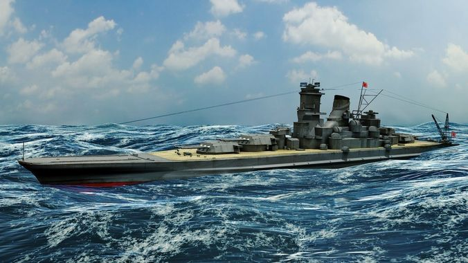 Car Full Hd Wallpaper Japanese Battleship Musashi 3d Model Fbx Ma Mb Cgtrader Com