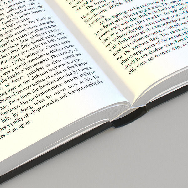 3D asset Opened Book CGTrader - opened book