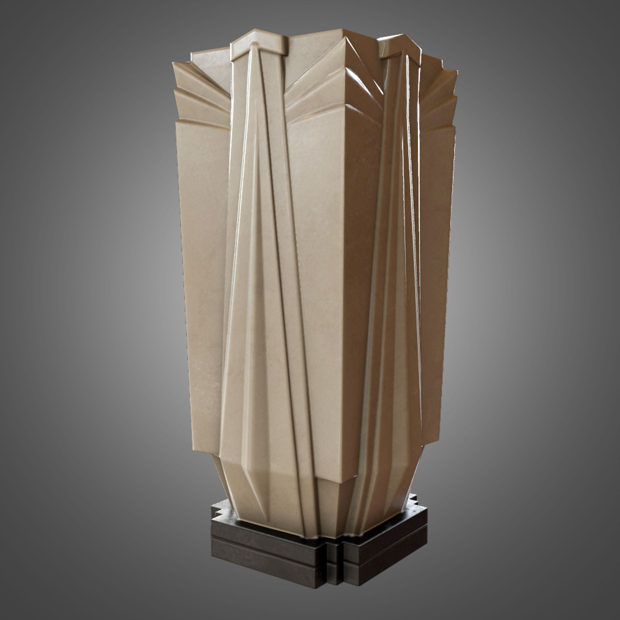 Art Deco Möbel Shop Art Deco Vase Game Ready 3d Model