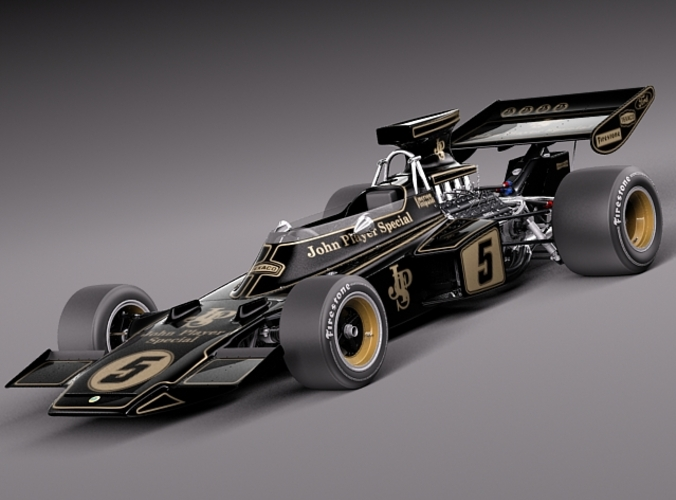 F1 Grand Prix Race Lotus 72d John Player Special 1970-1975 3d Model Max Obj