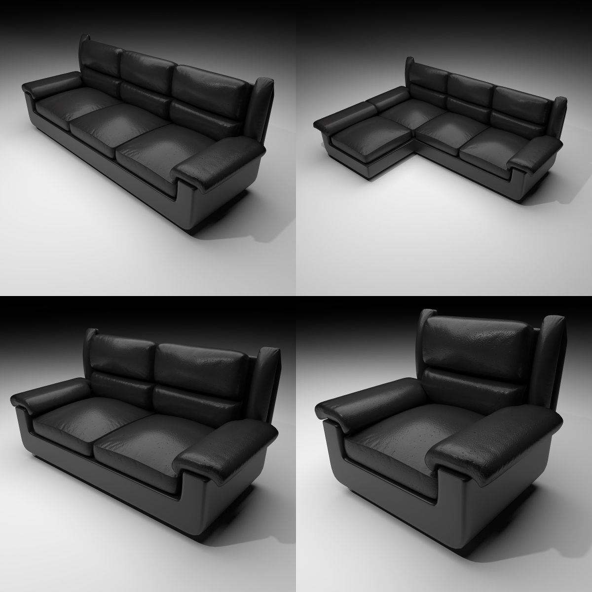 Couches 4 Couches 2 Material 4 3d Model