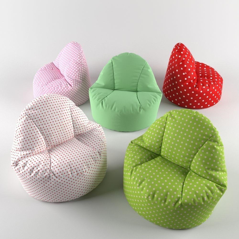 Bean bag chair pouf 3D Model rigged MAX FBX