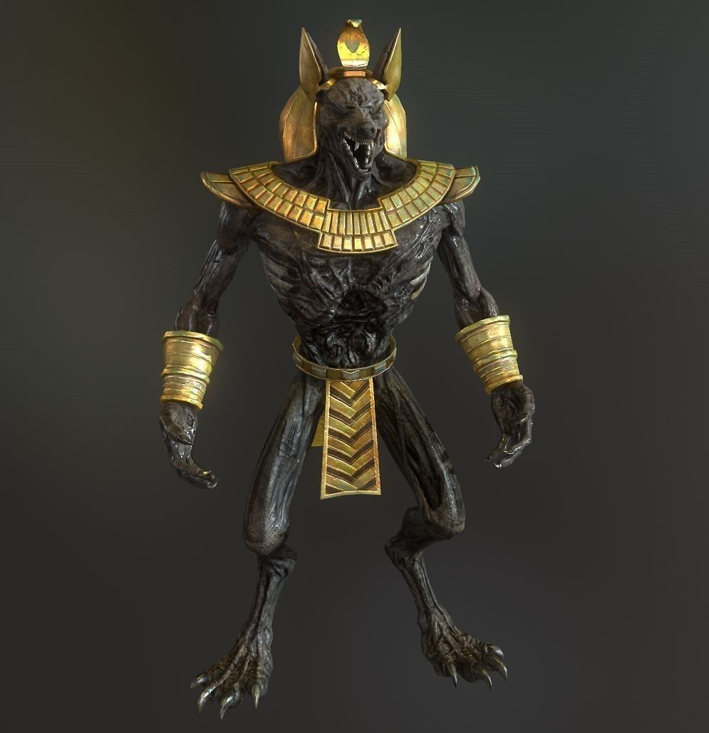 Thank You Wallpaper Animated Anubis Model 3d Model Game Ready Obj Ma Mb Tga