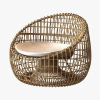Cane Line Nest lounge chair 3D Model MAX OBJ 3DS FBX ...