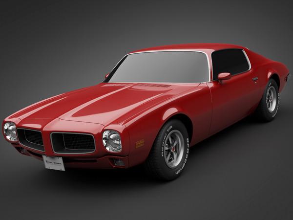 Wallpaper American Muscle Car 1970 Pontiac Firebird 3d Model Max Obj 3ds Lwo Lw