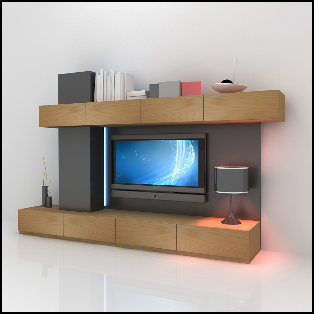 Tv Wall Unit Tv Wall Unit Modern Design X 06 3d Models - Cgtrader.com