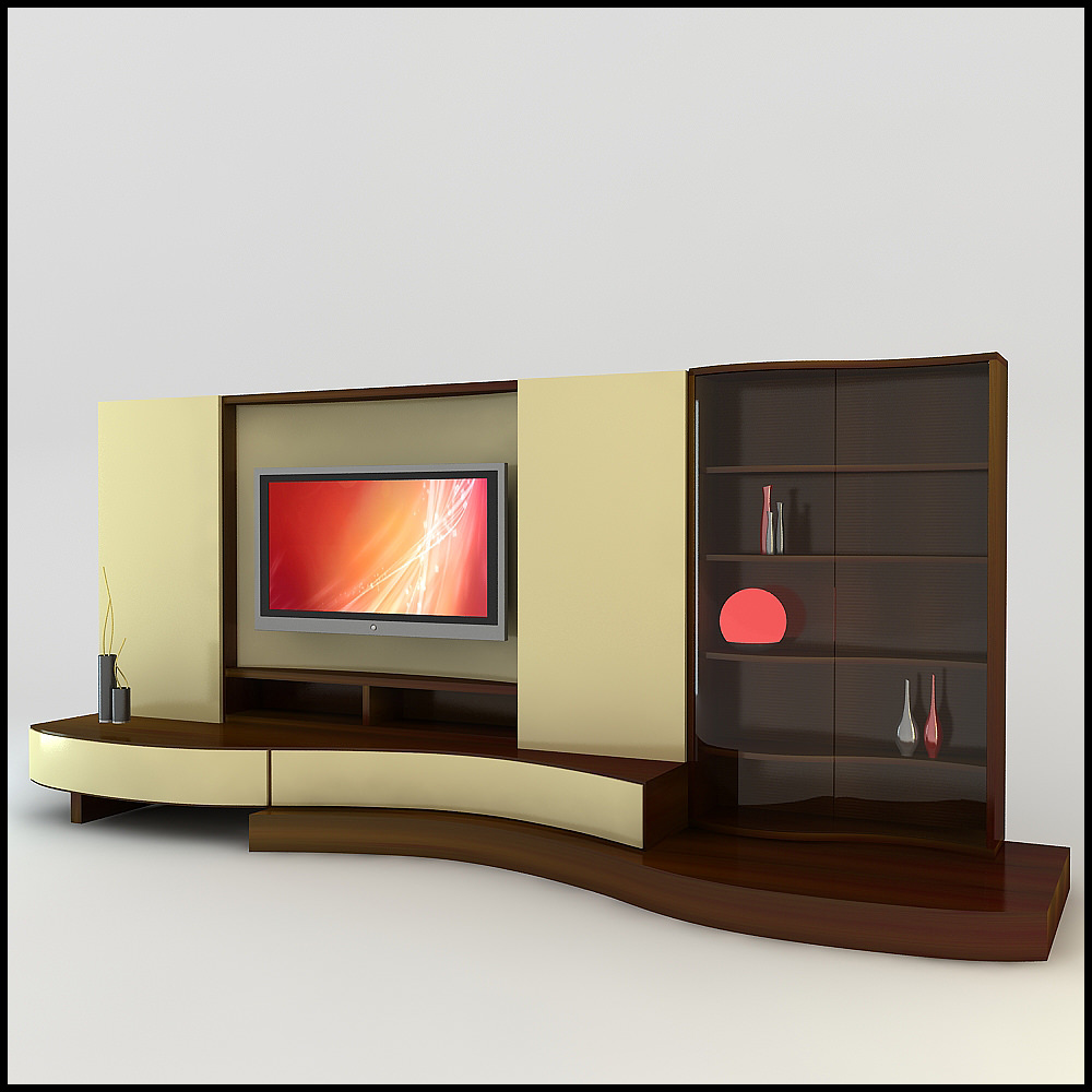 Tv Wall Unit Tv Wall Unit Modern Design X 17 3d Models - Cgtrader.com