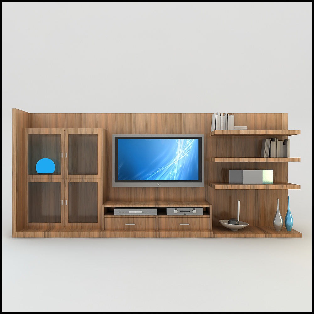Tv Wall Unit Tv Wall Unit Modern Design X 18 3d Models - Cgtrader.com