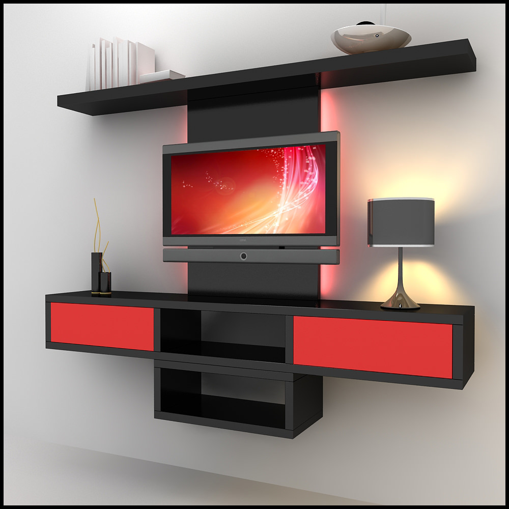 Tv Wall Unit Tv Wall Unit Modern Design X 09 3d Models - Cgtrader.com