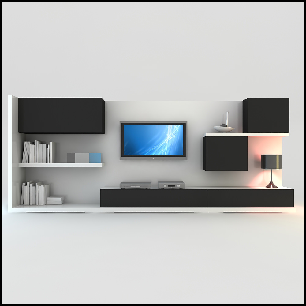 Tv Wall Unit Tv Wall Unit Modern Design X 15 3d Models - Cgtrader.com