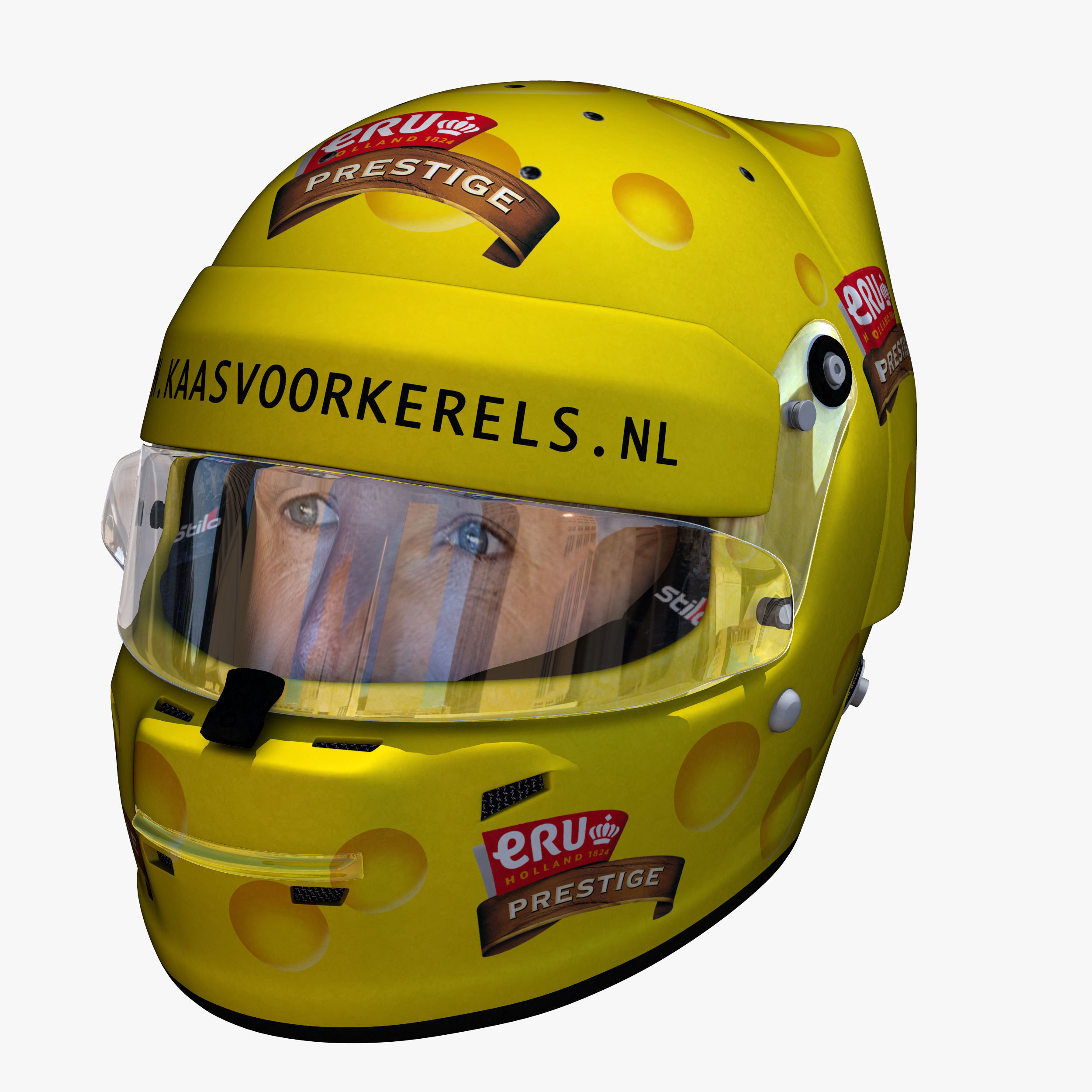 Tom Coronel Tom Coronel Cheese Helmet 3d Model