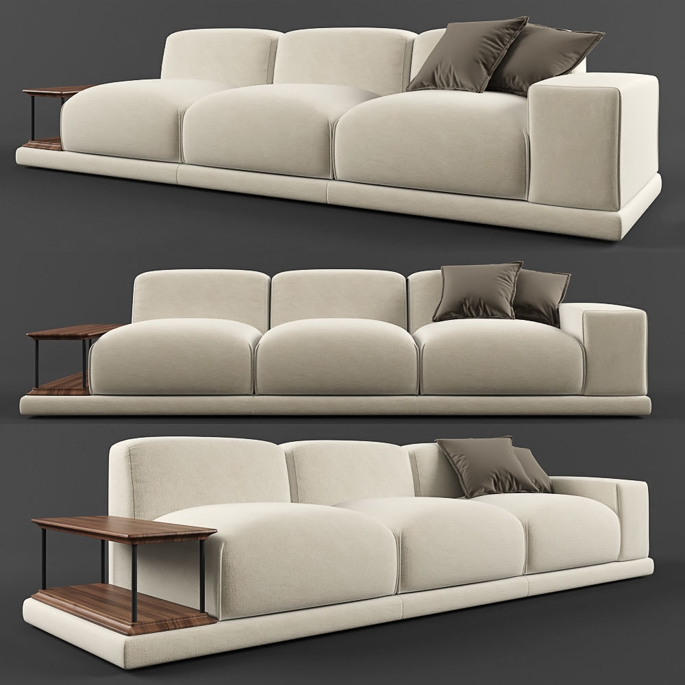 Benz Couch Sofa Rolf Benz Modo 3d Model