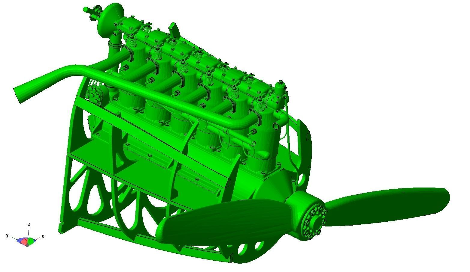 D Print Mercedes D Iii Engine As Used On Albatros D V Biplane 3d Print Model
